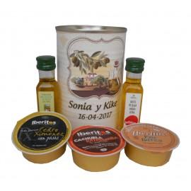 Lata con abre fácil con aceite Virgen extra, Aceite de Oliva Ecológica y paté surtido