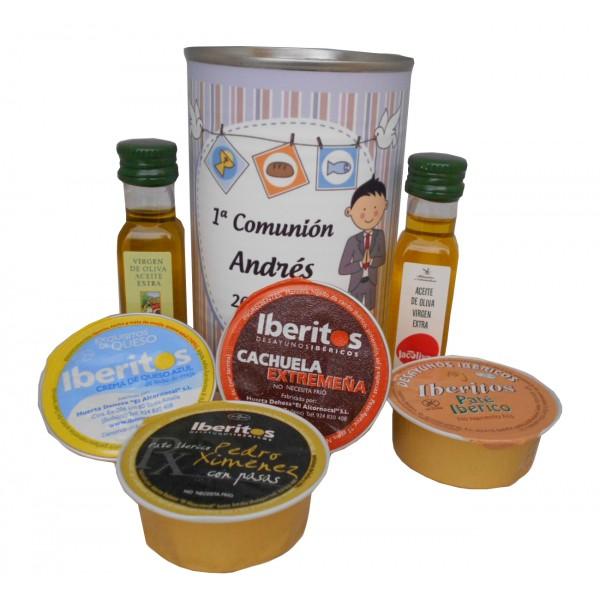 Lata con abre fácil con aceite Virgen extra, Aceite de Oliva Ecológica y queso azul y paté