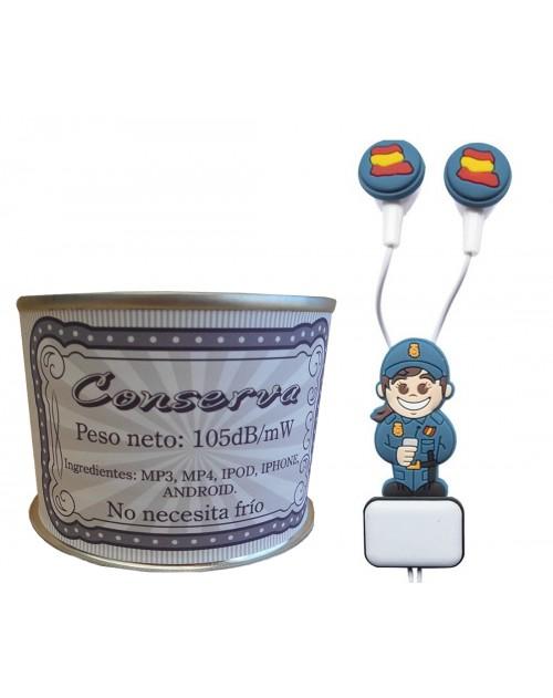 Auricular Policía Nacional chica en lata