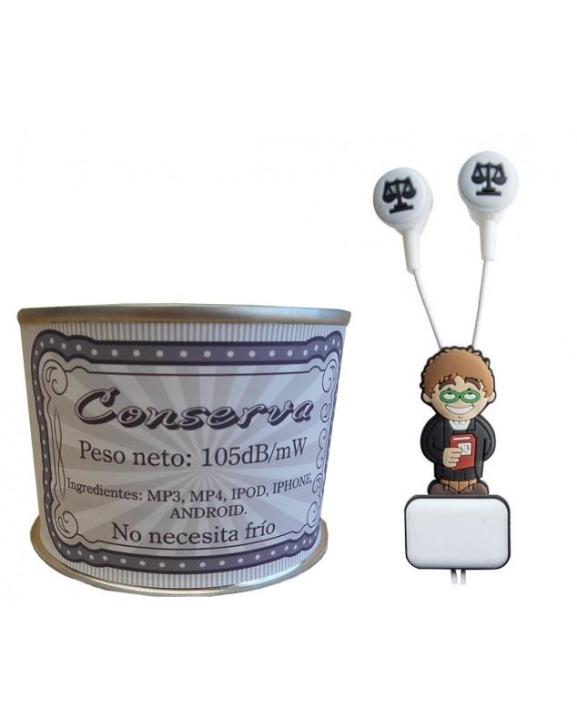 Auricular Abogado en lata