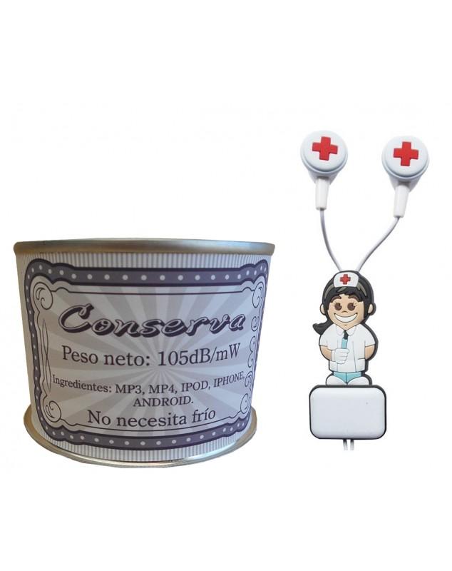 Auricular enfermera en lata