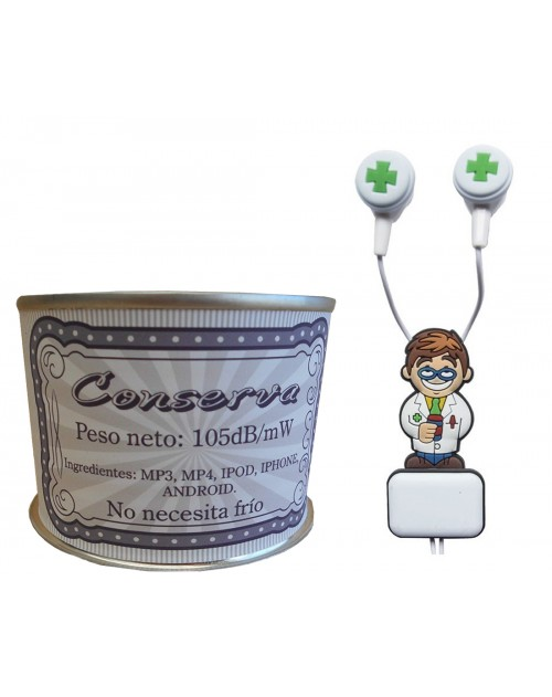 Auricular Farmacéutico en lata