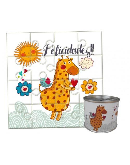 Puzzle cumpleaños Jirafa en lata