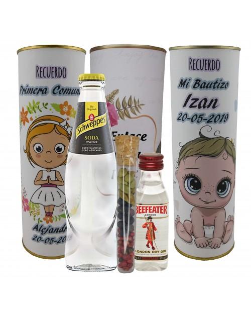 Pack de Gin Tonic Schweppes ORIGINAL con ginebra BEEFEATER en lata PERSONALIZADA