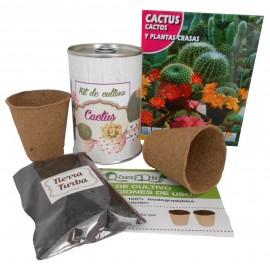 Kit de cultivo Cactus en lata