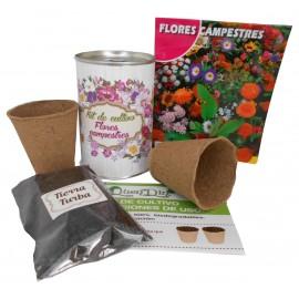 Kit de cultivo flores Campestre en lata